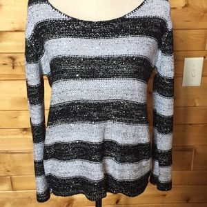 Black and white sparkly sweater
